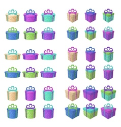 Gift holiday boxes vector image
