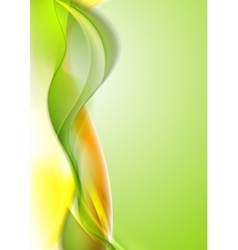 Bright shiny waves abstract background vector