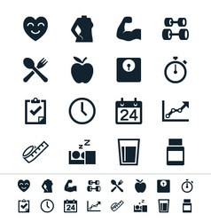 Healthcare icons vector