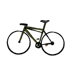 Classic bicycle transport hobby sport health vector