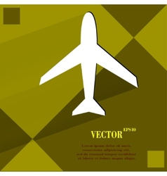 Plane  flat modern web design on a flat geometric vector