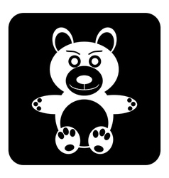 Bear button vector image