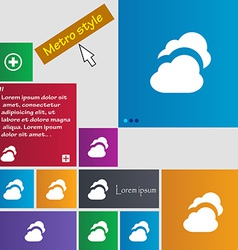 Cloud icon sign metro style buttons modern vector