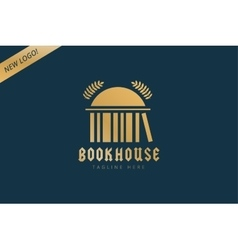 Book house template logo icon back to school vector