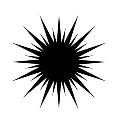 Sun black simple icon vector