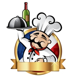 Cheerful chef vector