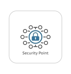 Security point icon flat design vector