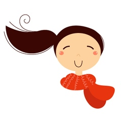 Beautiful girl with scarf vector