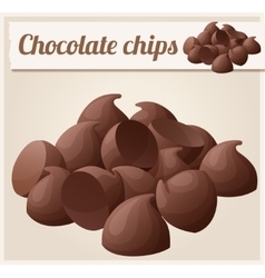 Semisweet chocolate chips Detailed Icon vector image
