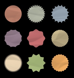 Set of round stickers vector image
