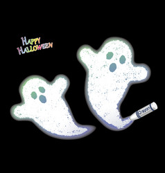 a white ghosts drawn with a crayon vector image vector image