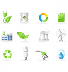 air pollution and green energy vector image vector image