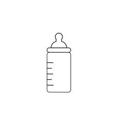 Baby feeding bottle icon vector