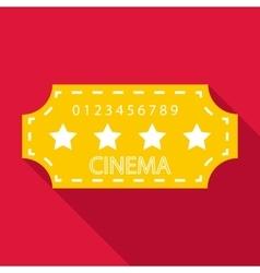 Cinema emblem icon flat style vector