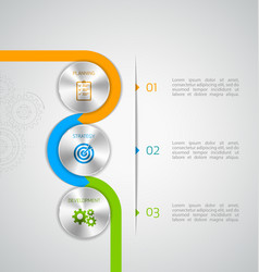 Circle modern infographic vector