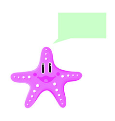 Cute sea star talking thinking isolated vector