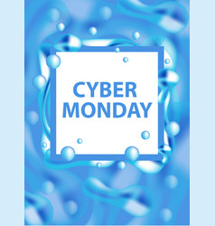 cyber monday flyers templates for your poster vector image vector image