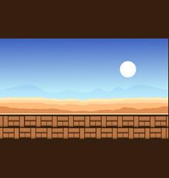 Desert style game background vector