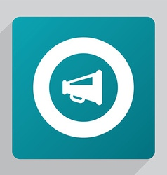 Flat speaker symbol icon vector