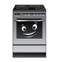 Fun modern stove kitchen appliance vector image