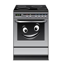 Fun modern stove kitchen appliance vector
