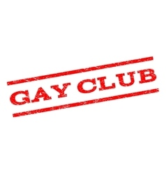 Gay club watermark stamp vector