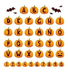 Halloween font alphabet set vector