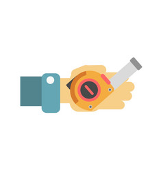 hand with tape-measure vector image vector image