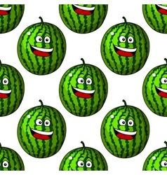 Happy laughing watermelon fruits vector image vector image