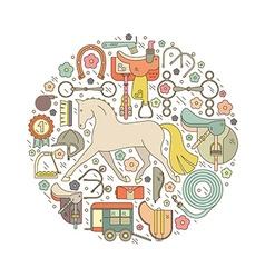 Horseriding concept vector