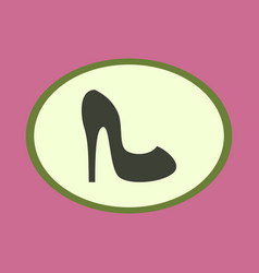 Icon in flat design fashion footwear women high vector