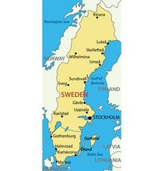 Kingdom of Sweden - map vector image vector image
