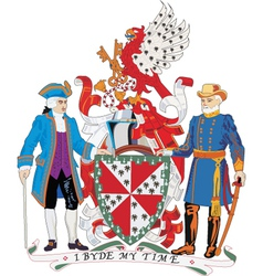 Loudon county coat-of-arms vector