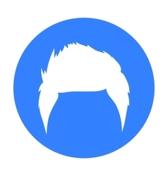 Man s hairstyle icon in black style isolated on vector image