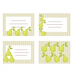 pear cards vector image