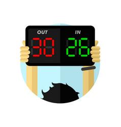 player change digital sign vector image