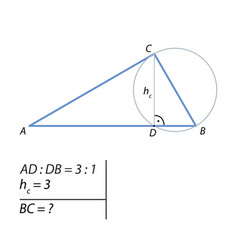 Problem of finding the leg of a right triangle-01 vector