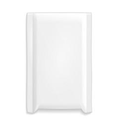 Protective postal white bag pack wrapper parcel vector