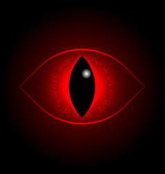 Red dragon eye vector