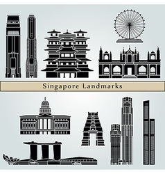 Singapore v2 landmarks and monuments vector