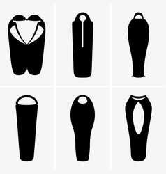 Sleeping bags vector