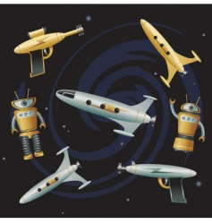 space junk vector image vector image