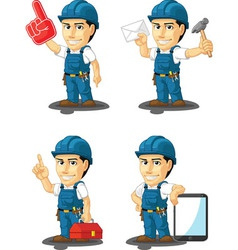 Technician or repairman mascot 15 vector