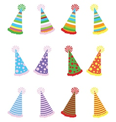 Various party hats packvs vector