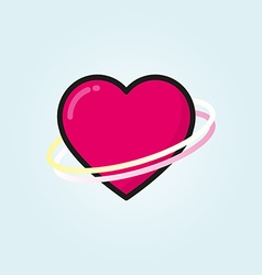 Heart outline color icon modern minimal flat vector