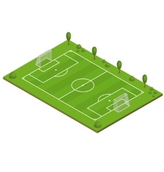 Green grass football field vector