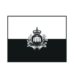 Flag of san marino monochrome on white background vector