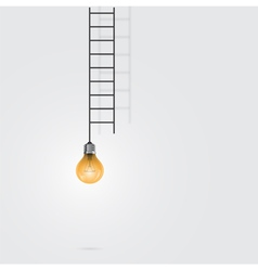 Creative light bulb and ladder sign vector