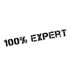 100 percent expert rubber stamp vector