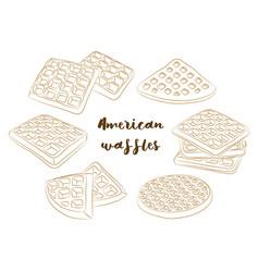 various american waffles vector image